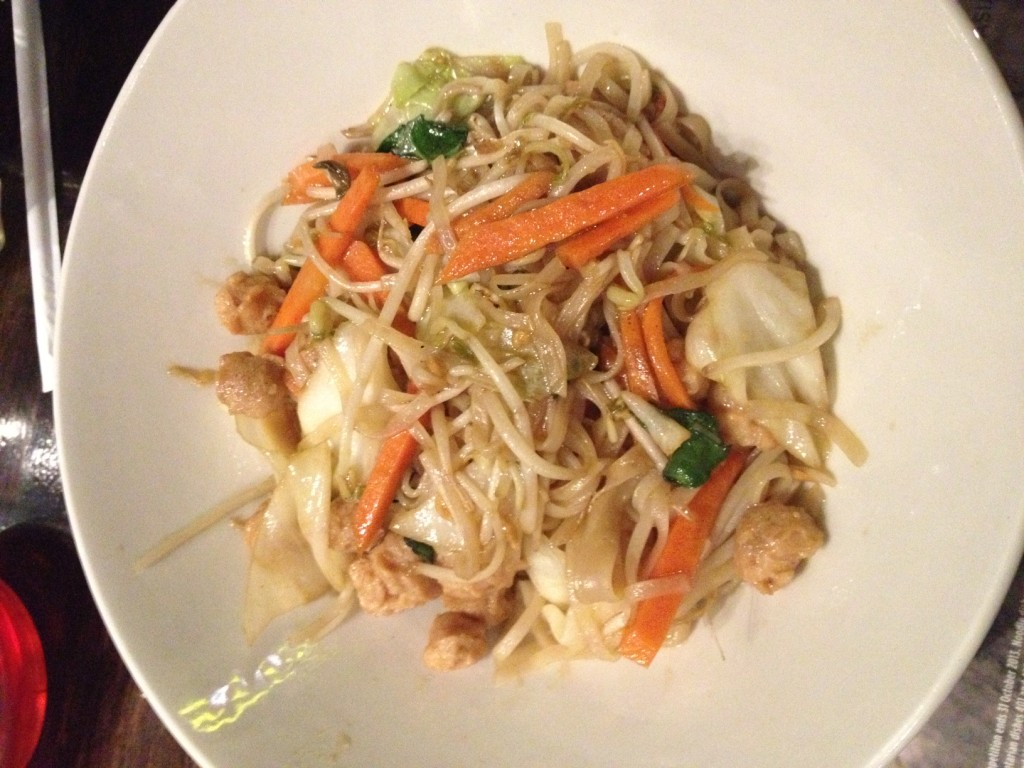 Veggie noodle bowl with soya protein from Simply Asia