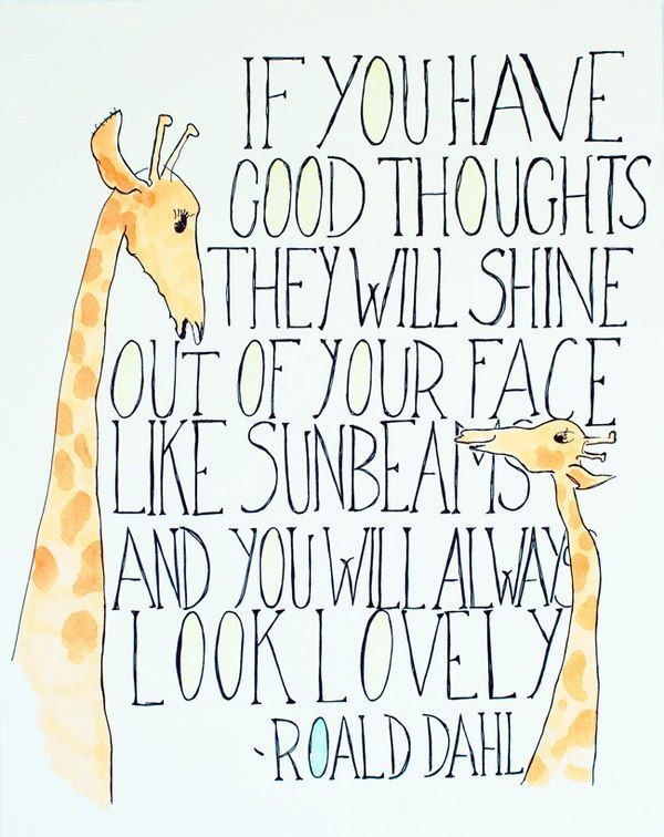 If you have good thoughts...